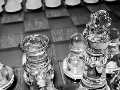 Monochrome Photograph - Chess Pieces 3 by Hakon Soreide