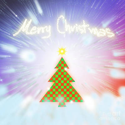 Chess Digital Art - Chess Style Christmas Tree by Atiketta Sangasaeng