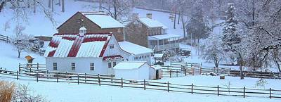 Winter Photograph - Chester County Farm In Winter by Stephen Hobbs