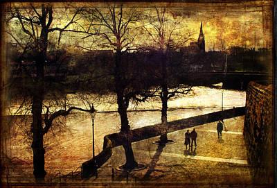 Chester Riverwalk Print by Mal Bray