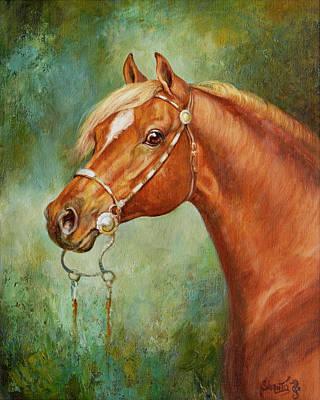 Horse Painting - Chestnut Stallion by Marilyn Shanto Stubbs