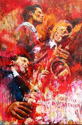 Gerry Painting - Chet Stan Getz Gerry Mulligan by Massimo Chioccia and Olga Tsarkova
