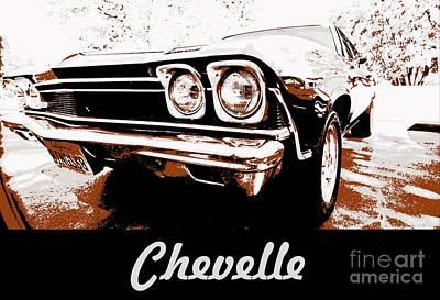 Chevelle Pop Art Print by Cheryl Young