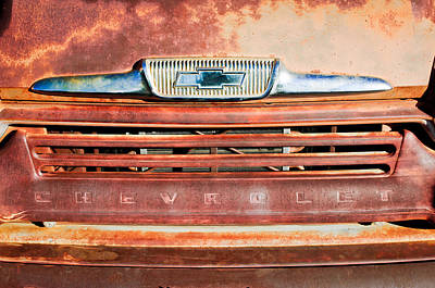 Chevrolet 31 Apache Pickup Truck Grille Emblem Print by Jill Reger