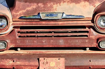 Chevrolet Apache 31 Pickup Truck Grille Emblem Print by Jill Reger
