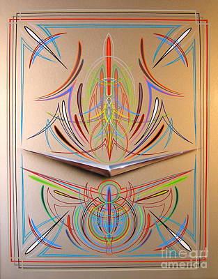 Pinstripes Painting - Chevron by Alan Johnson