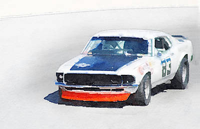 Chevy Painting - Chevy Camaro Monterey Watercolor by Naxart Studio