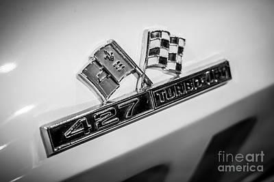 Chevy Corvette 427 Turbo-jet Emblem Print by Paul Velgos