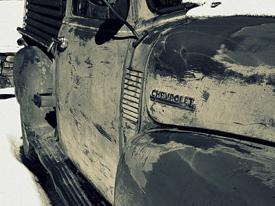 Chevy In Silver Print by Gia Marie Houck
