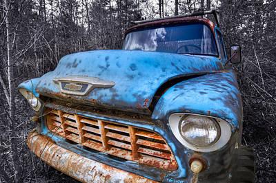 Chevy In The Woods Print by Debra and Dave Vanderlaan