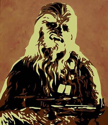 Chewbacca Painting - Chewbacca by Ian  King