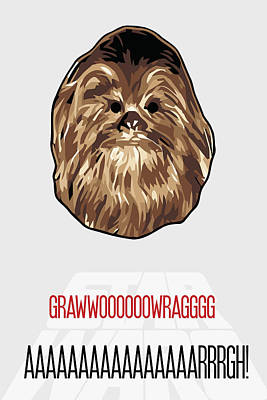 Hair Painting - Chewbacca Star Wars Poster by Florian Rodarte