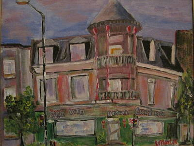 Outremont Painting - Chez Vito by Michael Litvack