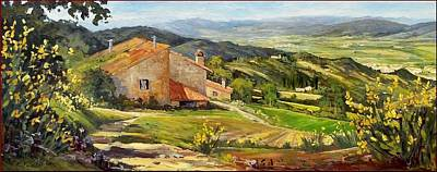 Chianti Valley Panorama - Italy Original by Cristina Falcini