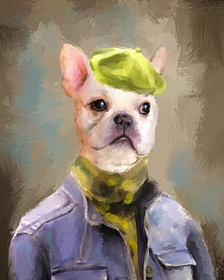 Bulldog Painting - Chic French Bulldog by Jai Johnson