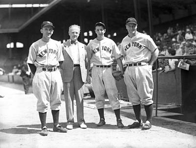 Lou Gehrig And Teammates Print by Retro Images Archive