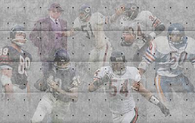 Chicago Bears Legends Print by Joe Hamilton