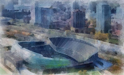 Soldier Field Digital Art - Chicago Bears Soldier Field 01 Photo Art by Thomas Woolworth
