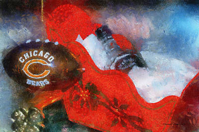 Soldier Field Digital Art - Chicago Bears Xmas Ornament Photo Art 02 by Thomas Woolworth