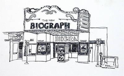 Chicago Biograph Theater Print by Robert Birkenes