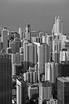 Chicago - Birds-eye-view Print by Christine Till
