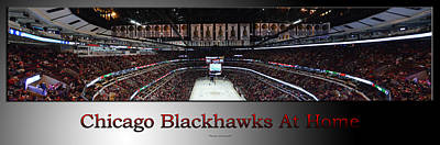 Photograph - Chicago Blackhawks At Home Panorama Sb by Thomas Woolworth