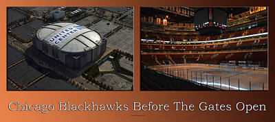 Photograph - Chicago Blackhawks Before The Gates Open Interior 2 Panel Tan by Thomas Woolworth