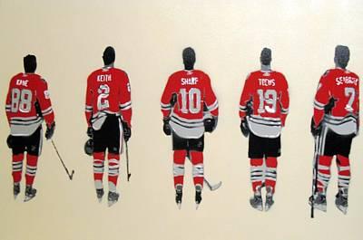 Blackhawk Painting - Chicago Blackhawks  by Mark  Burns