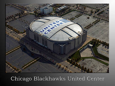Digital Art - Chicago Blackhawks United Center by Thomas Woolworth