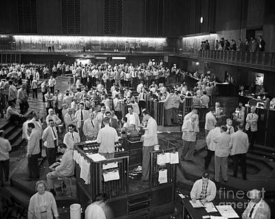 Working Photograph - Chicago Board Of Trade 1957 by Martin Konopacki Restoration