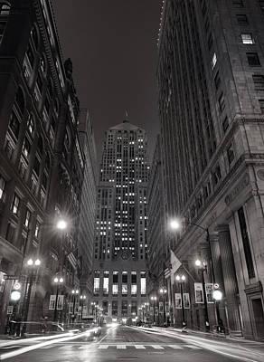 Chicago Board Of Trade B W Print by Steve Gadomski