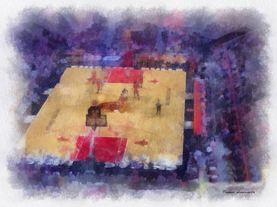 Chicago Bulls Game Day Photo Art 01 Print by Thomas Woolworth