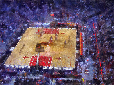 Chicago Bulls Game Day Photo Art 02 Print by Thomas Woolworth