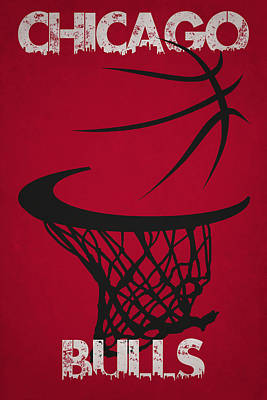 Chicago Bulls Hoop Print by Joe Hamilton