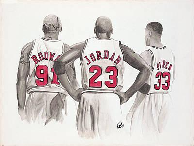Chicago Bulls Print by Megan Padilla