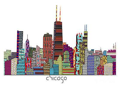 Chicago Skyline Mixed Media - Chicago City  by Bri B