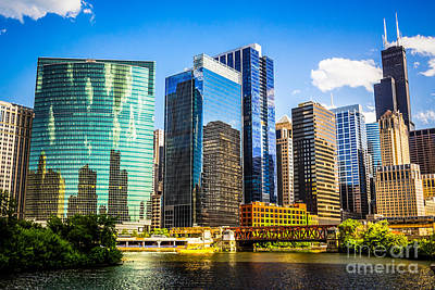 Riverfront Photograph - Chicago City Skyline by Paul Velgos