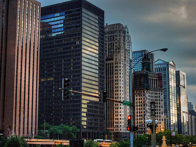 Chicago Cityscape 002 Print by Lance Vaughn