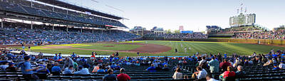 Chicago Cubs Pregame Time Panorama Print by Thomas Woolworth