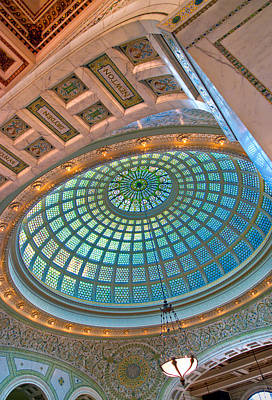 Historic Chicago Photograph - Chicago Cultural Center Tiffany Dome by Kevin Eatinger