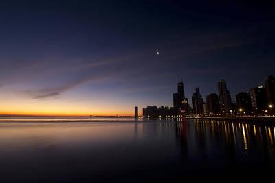 Chicago Dawn 2 Print by Sven Brogren