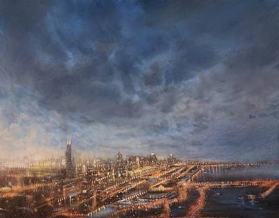 Chicago From Above Print by Tom Shropshire