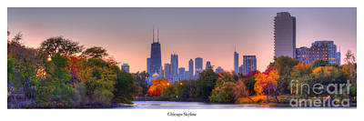 Chicago From Lincoln Park Print by Twenty Two North Photography