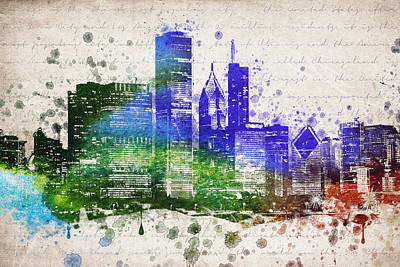 Chicago Skyline Mixed Media - Chicago In Color by Aged Pixel