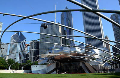 Chicago Photograph - Chicago Jay Pritzker Pavilion  by Susan Montgomery