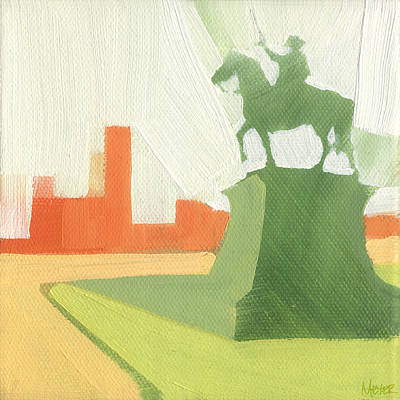 Statue Painting - Chicago Kosciuszko Statue 15 Of 100 by W Michael Meyer