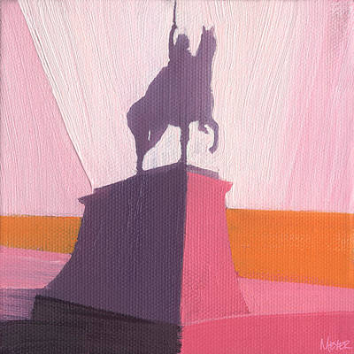 Statue Painting - Chicago Kosciuszko Statue 16 Of 100 by W Michael Meyer