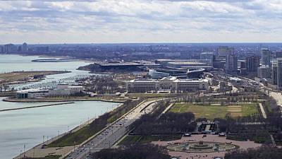 Soldier Field Digital Art - Chicago Landmarks by Robert Joseph