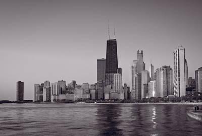 Chicago Morning Bw Original by Steve Gadomski