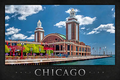 Chicago Navy Pier Poster Print by Christopher Arndt